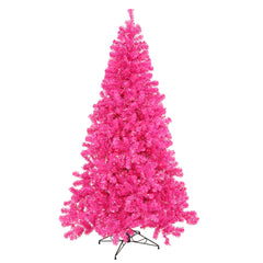 Vickerman 3' Hot Pink Artificial Christmas Tree - 50 Pink Lights - Plastic stand