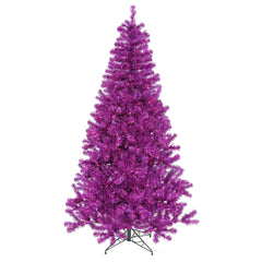 Vickerman 3' Purple Artificial Christmas Tree -50 Purple LED Lights  105 PVC Tip