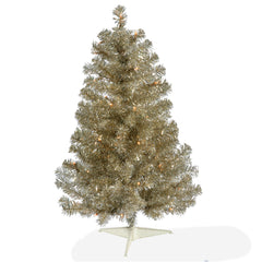 Vickerman 3' Champagne Artificial Christams Tree - 50 LED Warm White Lights