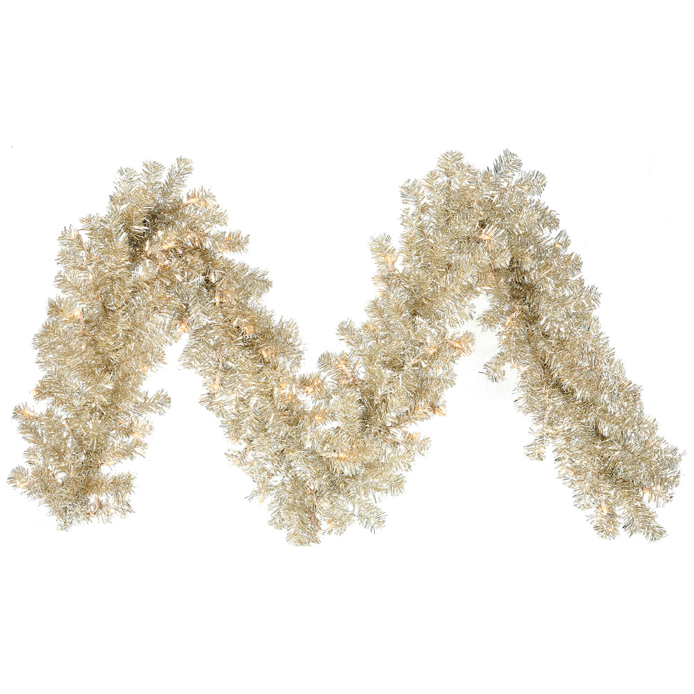 "9' x 12"" Champagne Garland - 70 Clear Lights"