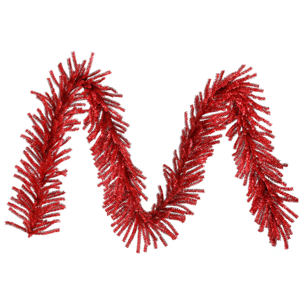 "9' x 10"" Red Mini Garland 500T"