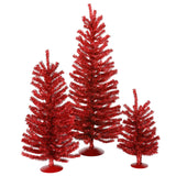 "12""/18""/24"" Red Mini Tree Set 391T"