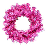 "6"" Fuchsia Mini Christmas Wreath 40T"