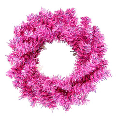 6� Fuchsia Mini Christmas Wreath 40T