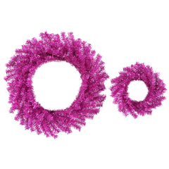 2 Pack - Vickerman 2 Fuchsia Wreaths Set 10in and 18in