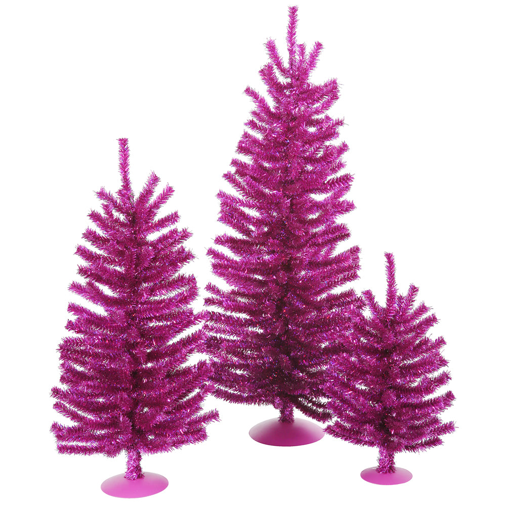 "12""/18""/24"" Fuchsia Mini Tree Set 391T"