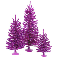"12""/18""/24"" Purple Mini Tree Set 391T"