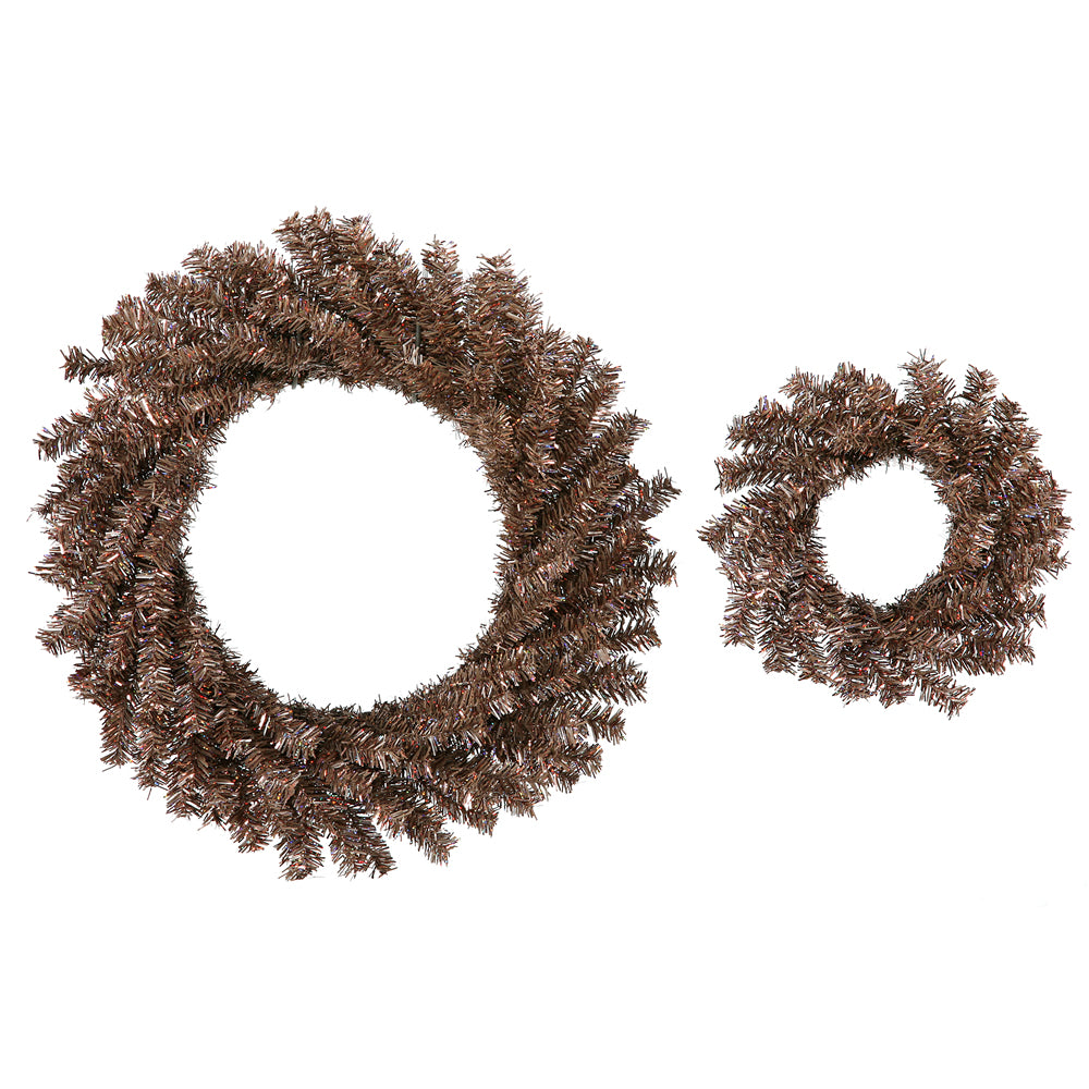 2 Pack - Vickerman 2 Mocha Wreaths Set 10in and 18in