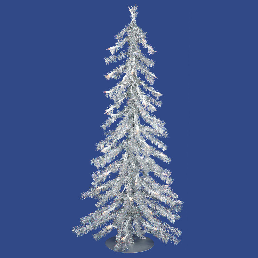 Vickerman 2Ft. Silver 115 Tips Christmas Tree 35 Clear Mini Lights