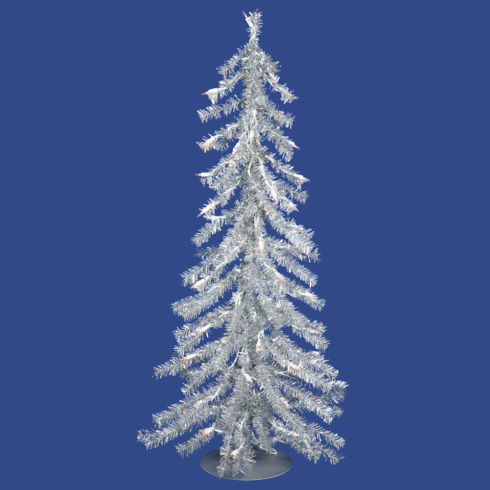 Vickerman 2' Silver Artificial Christmas Tree - 35 Warm White LED Lights
