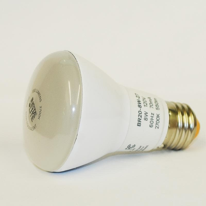 InstaLite 8W BR20 Dimmable LED 2700K Light Bulb