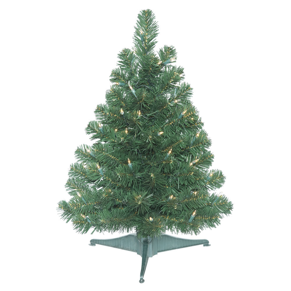 "Vickerman 26"" Oregon Fir Artificial Christmas Tree Clear Lights Pull Down Branch"