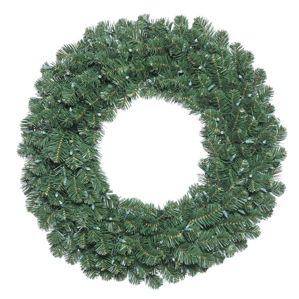 "36"" Unlit Oregon Fir Double Door Wreath in Halves - 186 Tips"