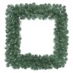 "24"" Oregon Fir Square Wreath with 50 Clear Lights"