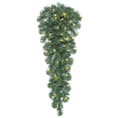 "Vickerman 36"" Oregon Fir Teardrop Tree - 50 Warm White LED Lights - 48 PVC Tips"