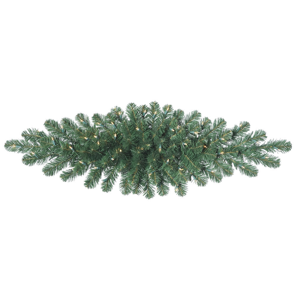 "48"" Oregon Fir 50 Clear Dura-Lit Lights Christmas Swag - 75 PVC Tips"