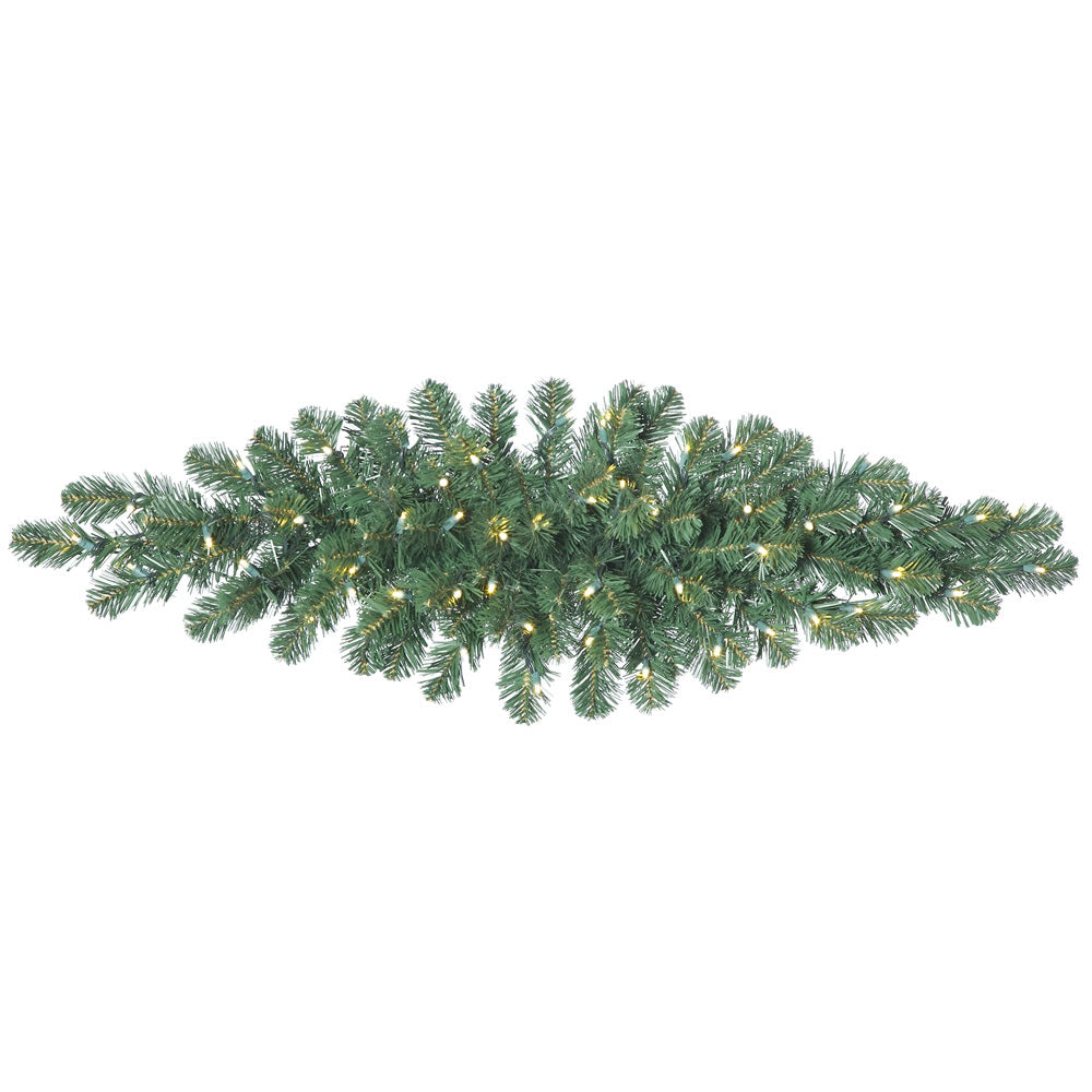 "48"" Oregon Fir 50 LED Warm White lights Christmas Swag - 75 PVC Tips"