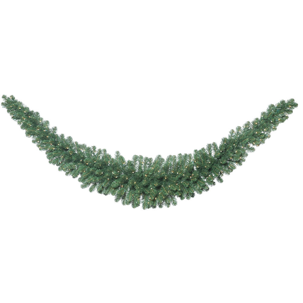 9' Oregon Fir Swag Garland with 150 Clear Lights