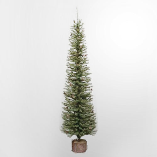 "1 Tree - 24"" Carmel Pine Tree 282 Tips Wood Base"