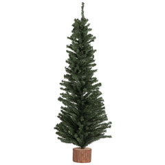 "1 Tree - 32"" Mini Pine Tree 383 Tips Wood Base"