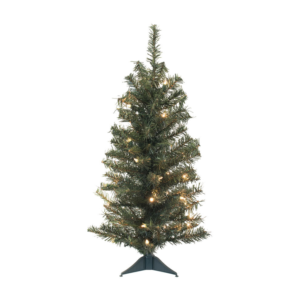 "Vickerman 30"" Canadian Pine Artificial Christmas Tree - 35 Clear Lights"