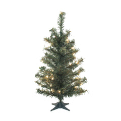 "Vickerman 36"" Canadian Pine Artificial Christmas Tree - 35 LED Warm White Lights"