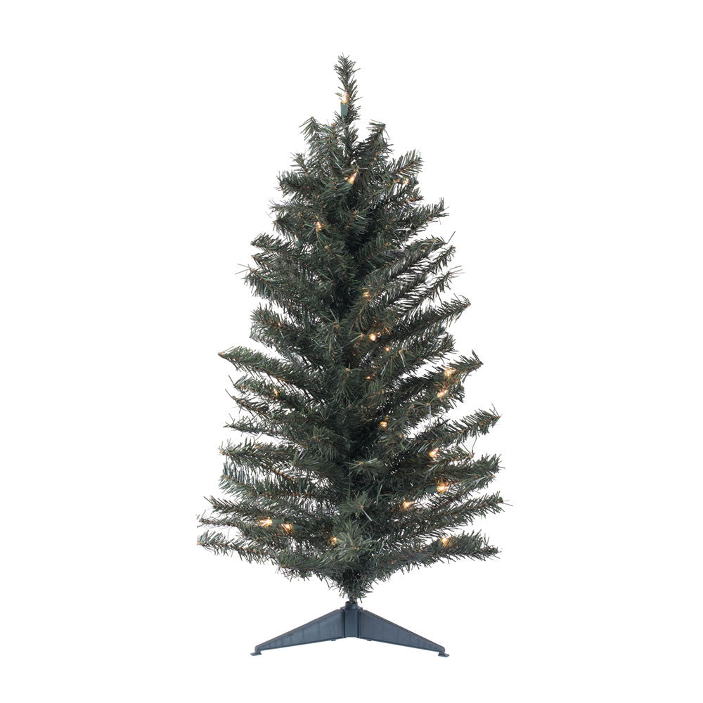 "Vickerman 36"" Canadian Pine Artificial Christmas Tree - 35 Clear Lights"