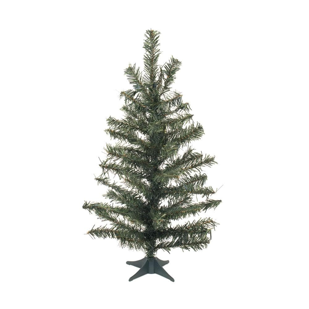 "Vickerman 24"" Unlit Canadian Pine Artificial Christmas Tree - Plastic stand"