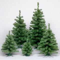 "1 Tree  - Vickerman 18"" Unlit Canadian Pine Artificial Christmas Tree - Plastic stand"