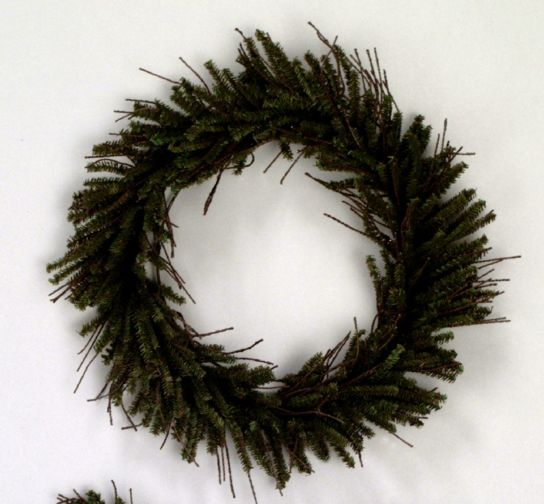 Vickerman 20in. Brown, Green 240 Tips Wreath