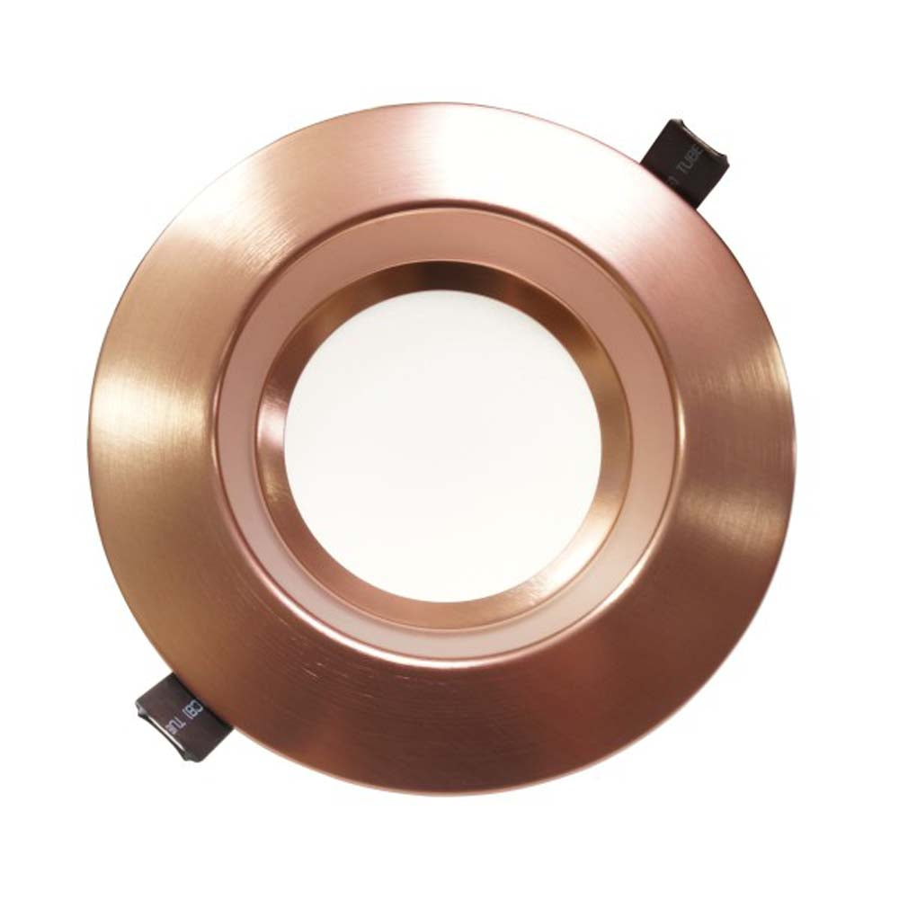 NICOR 6 inch Recessed High-Output LED Downlight, Aged Copper, 2700K