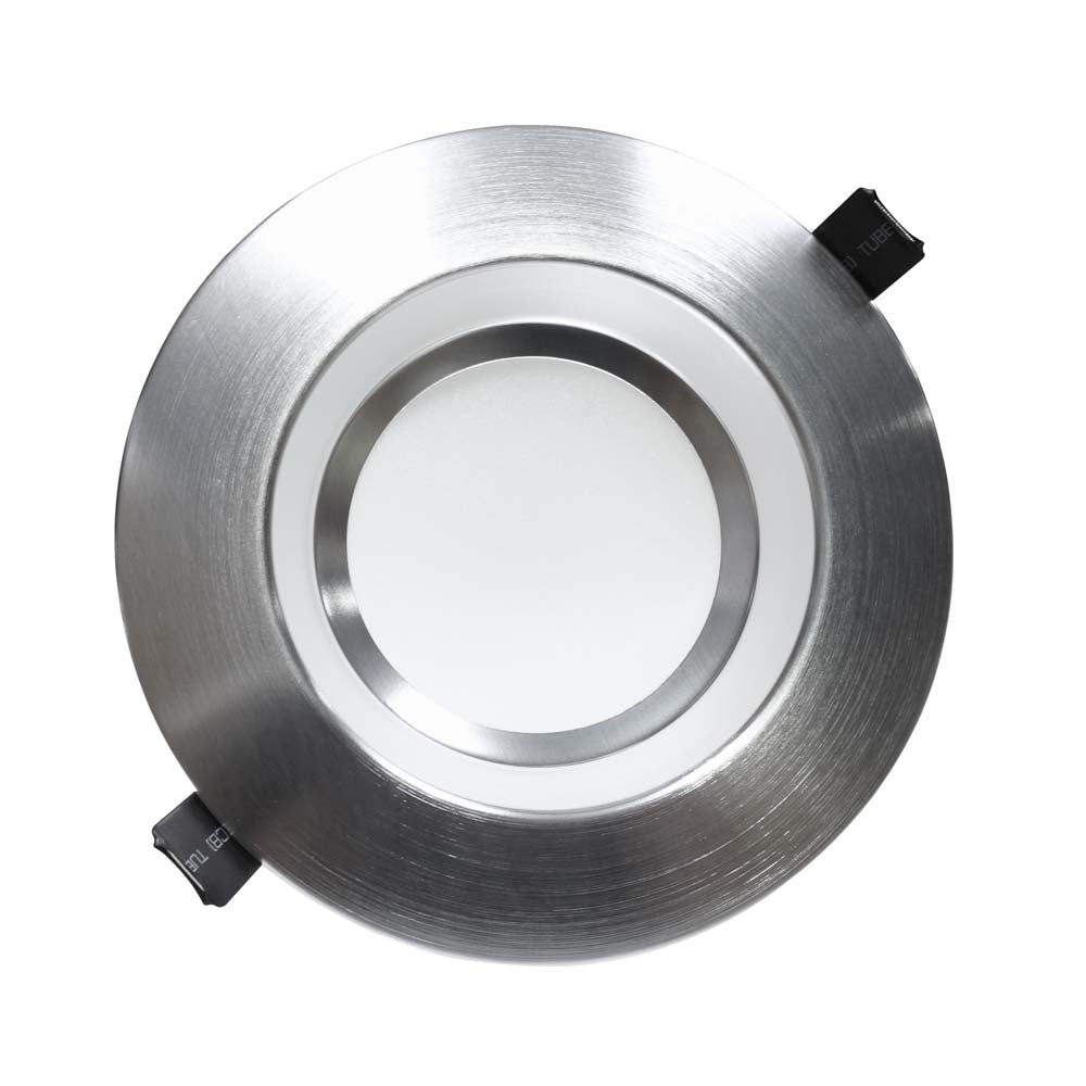 NICOR 6 inch Recessed High-Output LED Downlight, Nickel, 3500K
