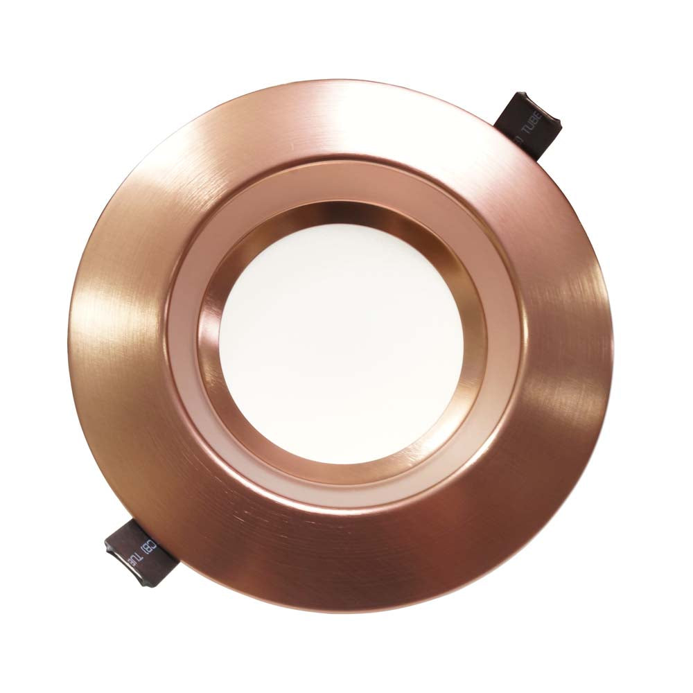NICOR 6 inch Recessed High-Output LED Downlight, Aged Copper, 5000K