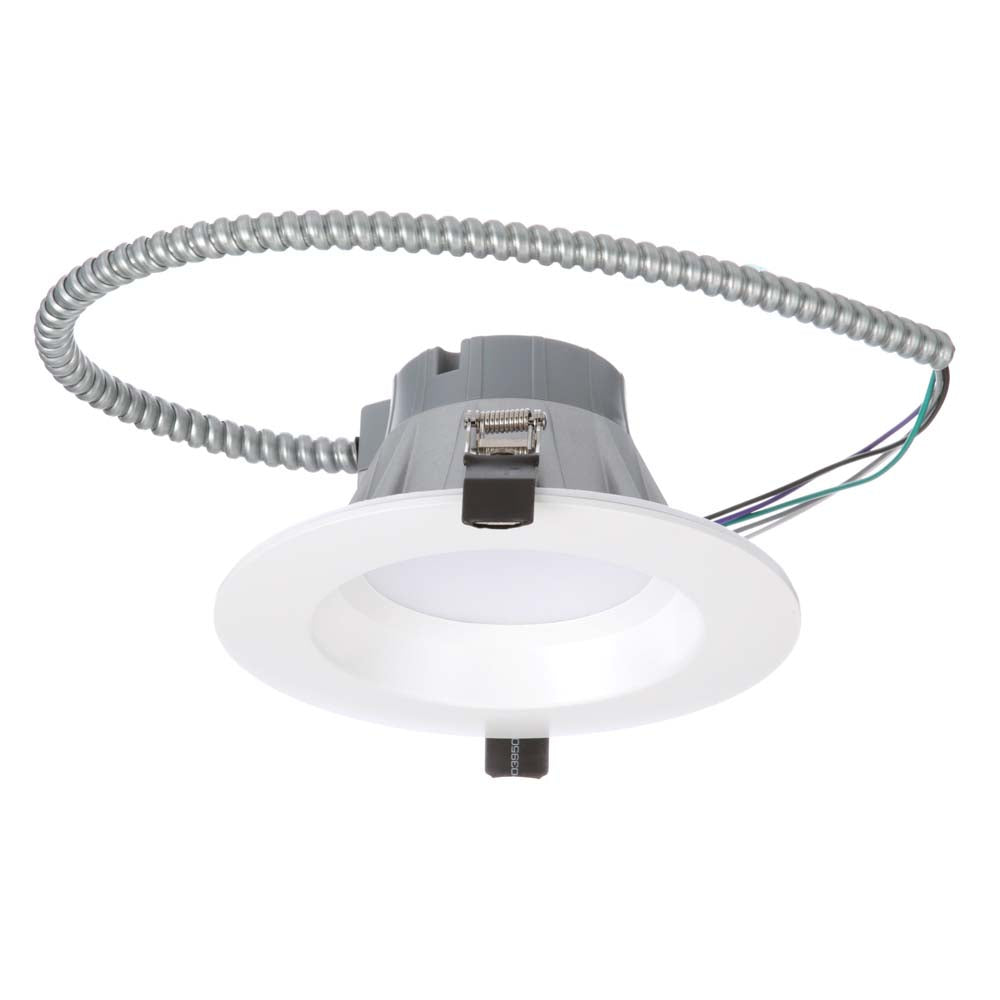 NICOR 6 inch Recessed High-Output LED Downlight, White, 5000K
