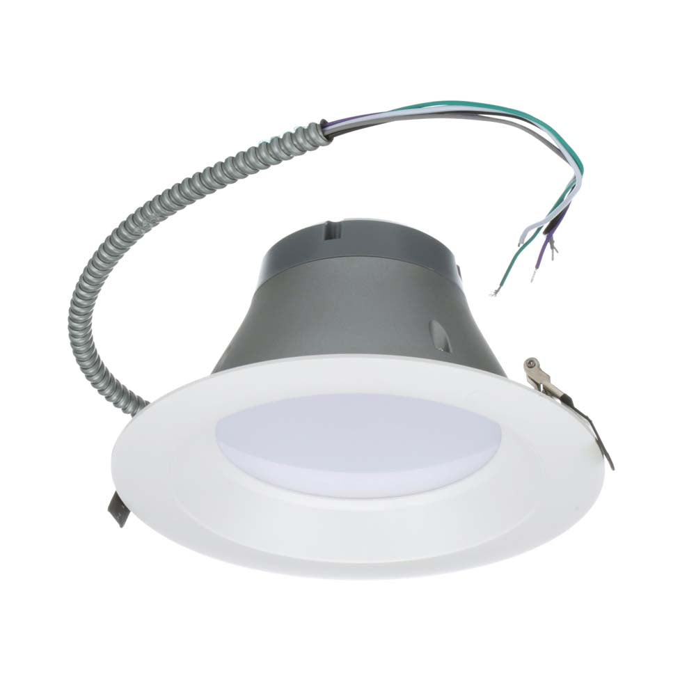 NICOR 8 inch Recessed Commercial LED Downlight, White, 2700K