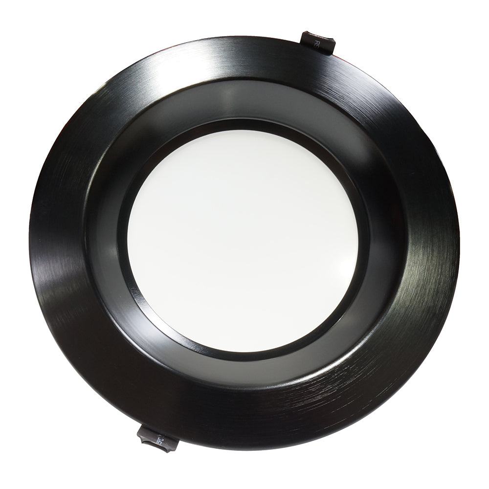 NICOR 8 in. Black Commercial LED Recessed Downlight in 3500K