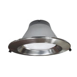 NICOR 8 in. Nickel Commercial LED Recessed Downlight in 3500K - BulbAmerica