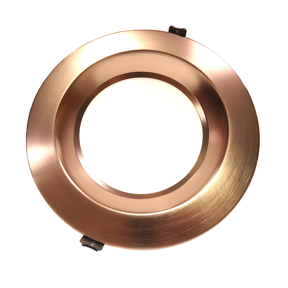 NICOR 8 in. Oil-Rubbed Bronze Commercial LED Recessed Downlight in 3500K