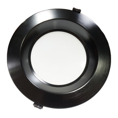 NICOR 8 in. Black Commercial LED Recessed Downlight in 4000K