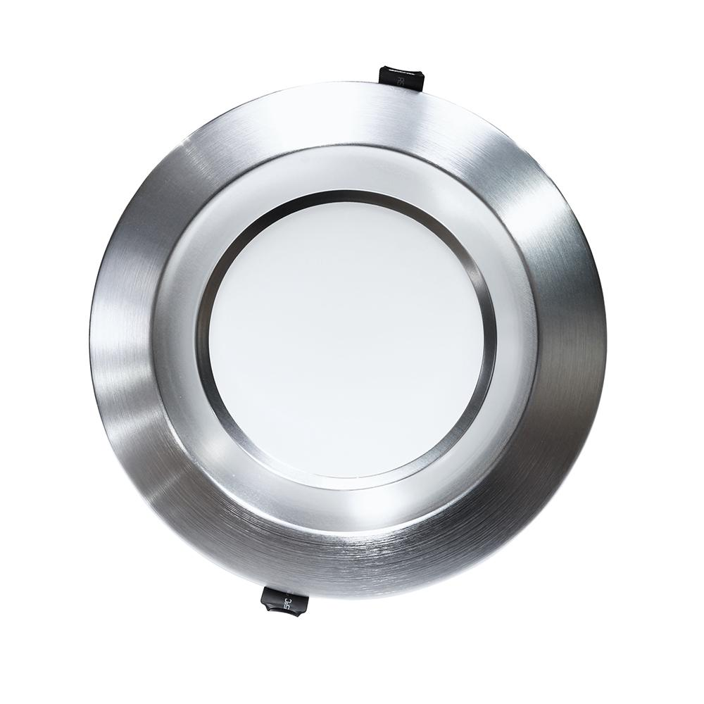 NICOR 8 in. Nickel Commercial LED Recessed Downlight in 4000K