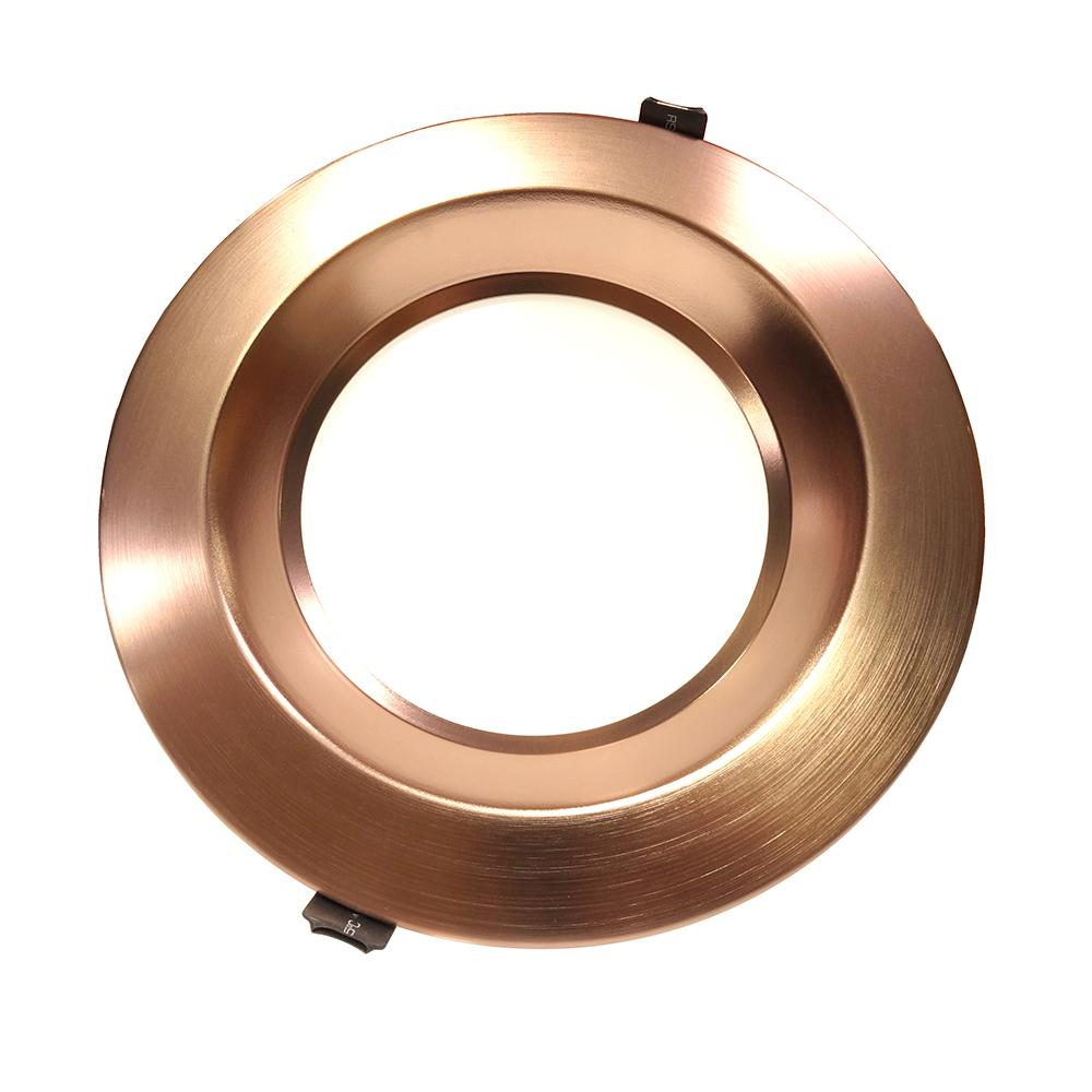 NICOR 8 in. Oil-Rubbed Bronze Commercial LED Recessed Downlight in 4000K