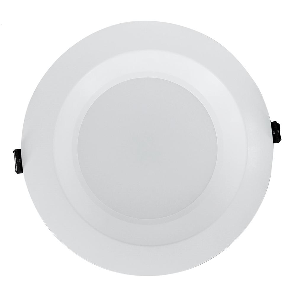 NICOR 8 in. White Commercial LED Recessed Downlight in 4000K