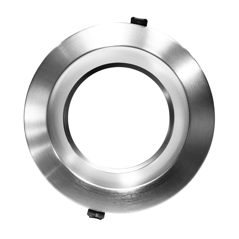 NICOR 8 inch Recessed Commercial LED Downlight, Nickel, 5000K