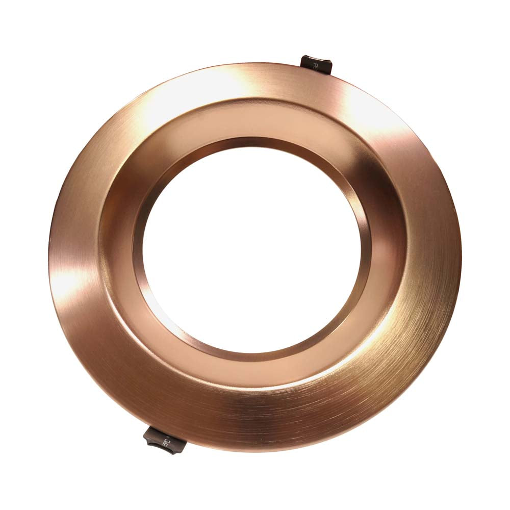 NICOR 8 inch Recessed Commercial LED Downlight Aged Copper 5000K