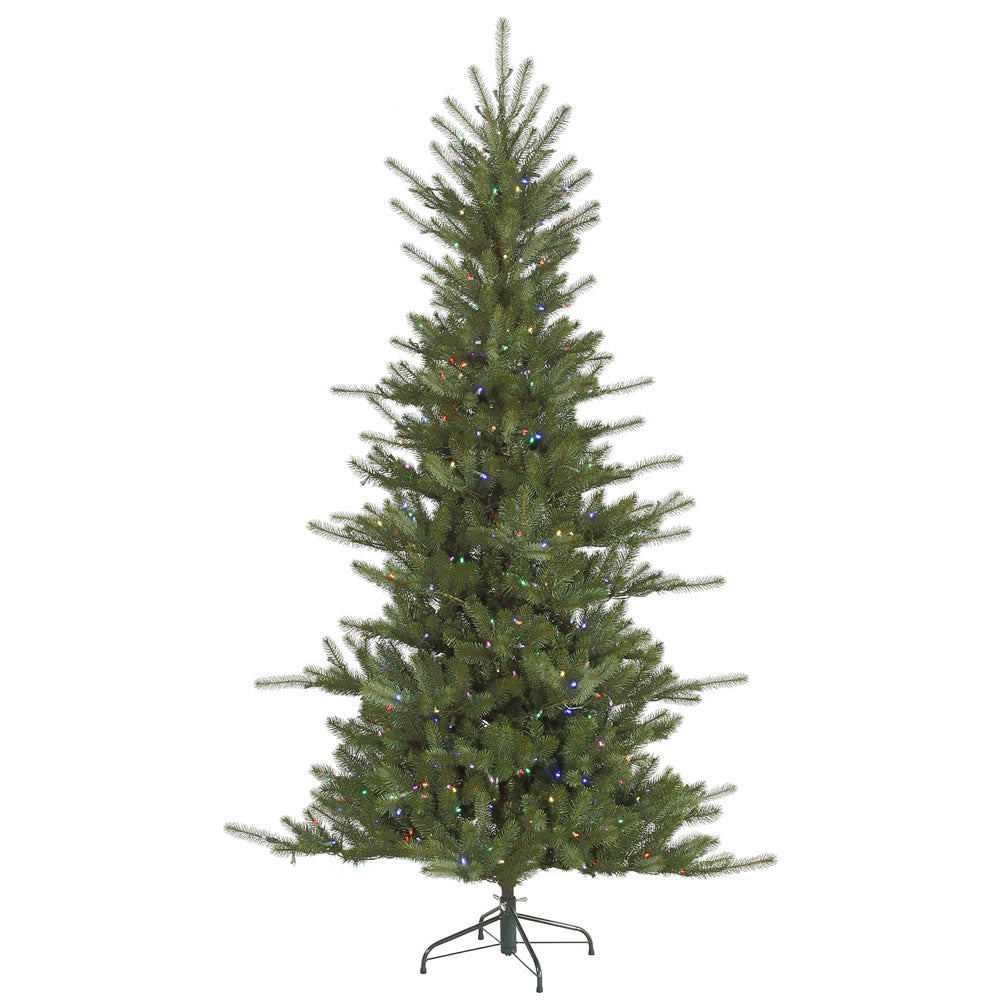 Vickerman 7.5Ft. Green 1191 Tips Christmas Tree 680 Multi-color LED Lights