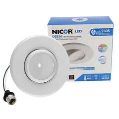NICOR LED Eyeball Retrofit Downlight Kit for 5 and 6 in. Housings, 4000K