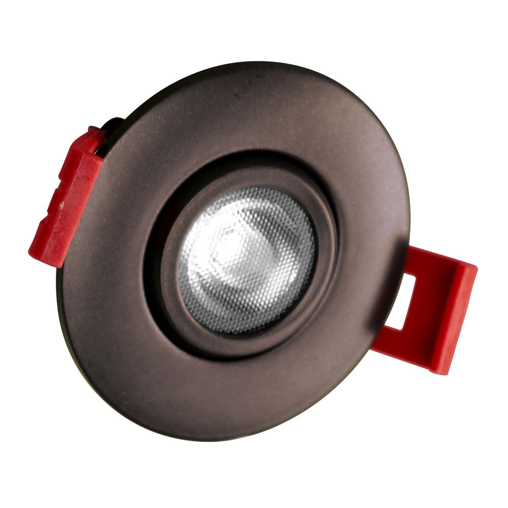 NICOR 2-inch LED Gimbal Recessed Downlight in Oil-Rubbed Bronze, 2700K