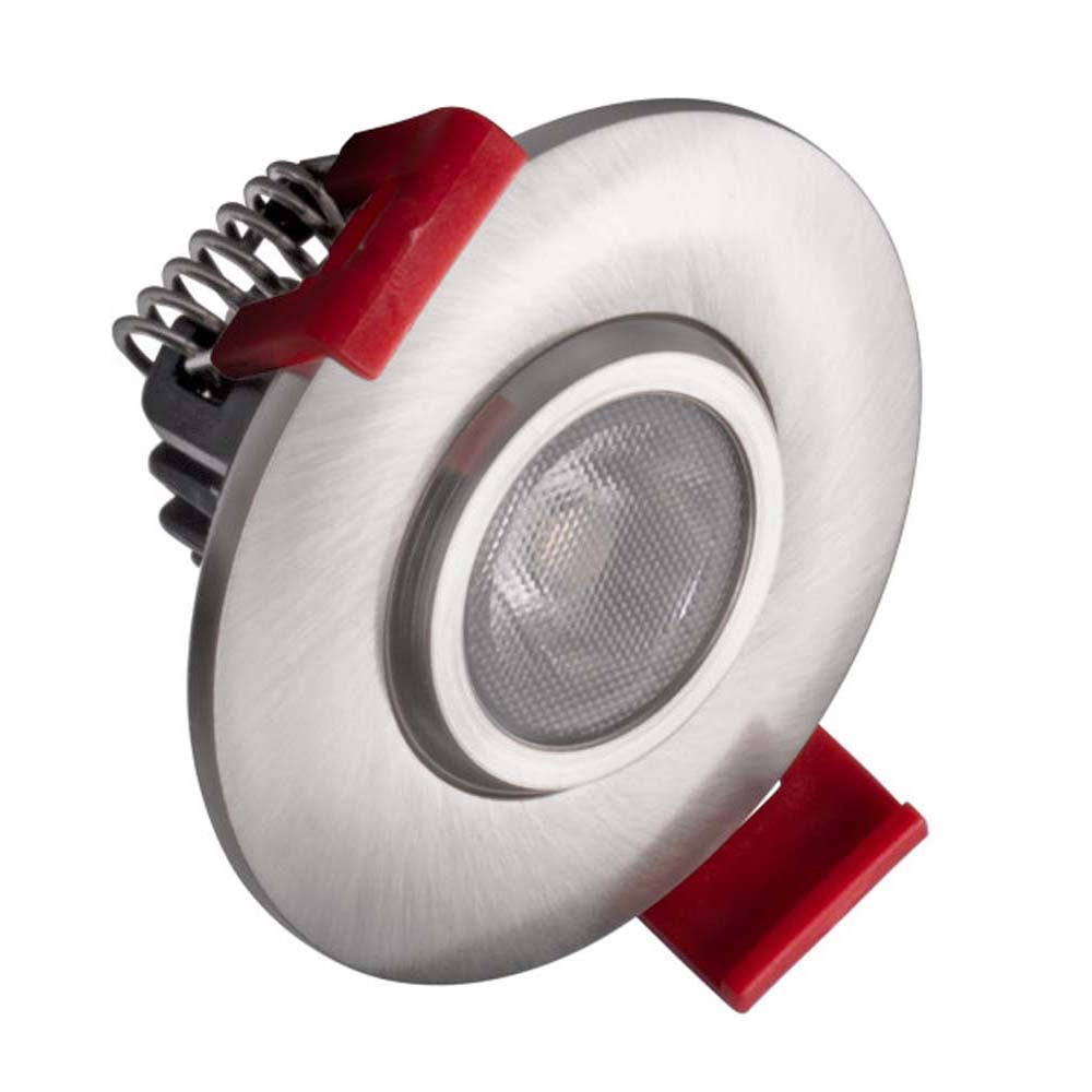NICOR 2-inch LED Gimbal Recessed Downlight in Nickel, 5000K