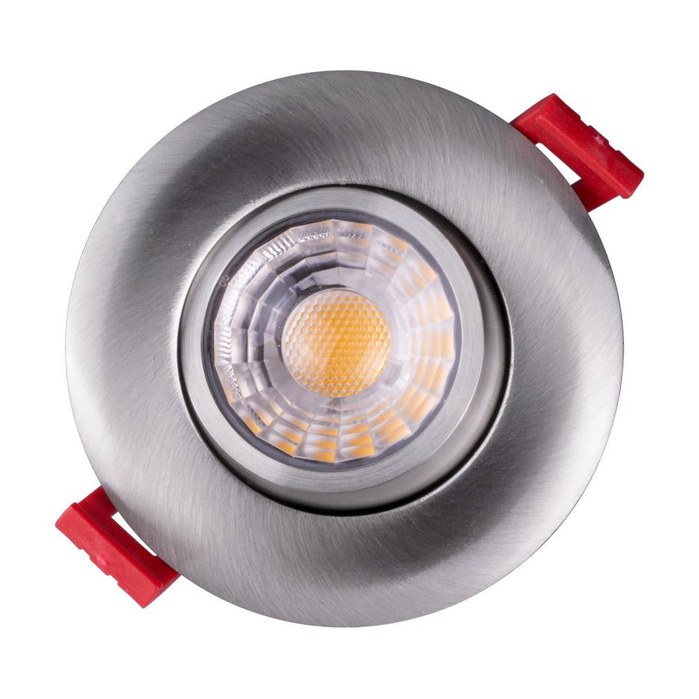 NICOR 3-inch LED Gimbal Recessed Downlight in Nickel, 2700K
