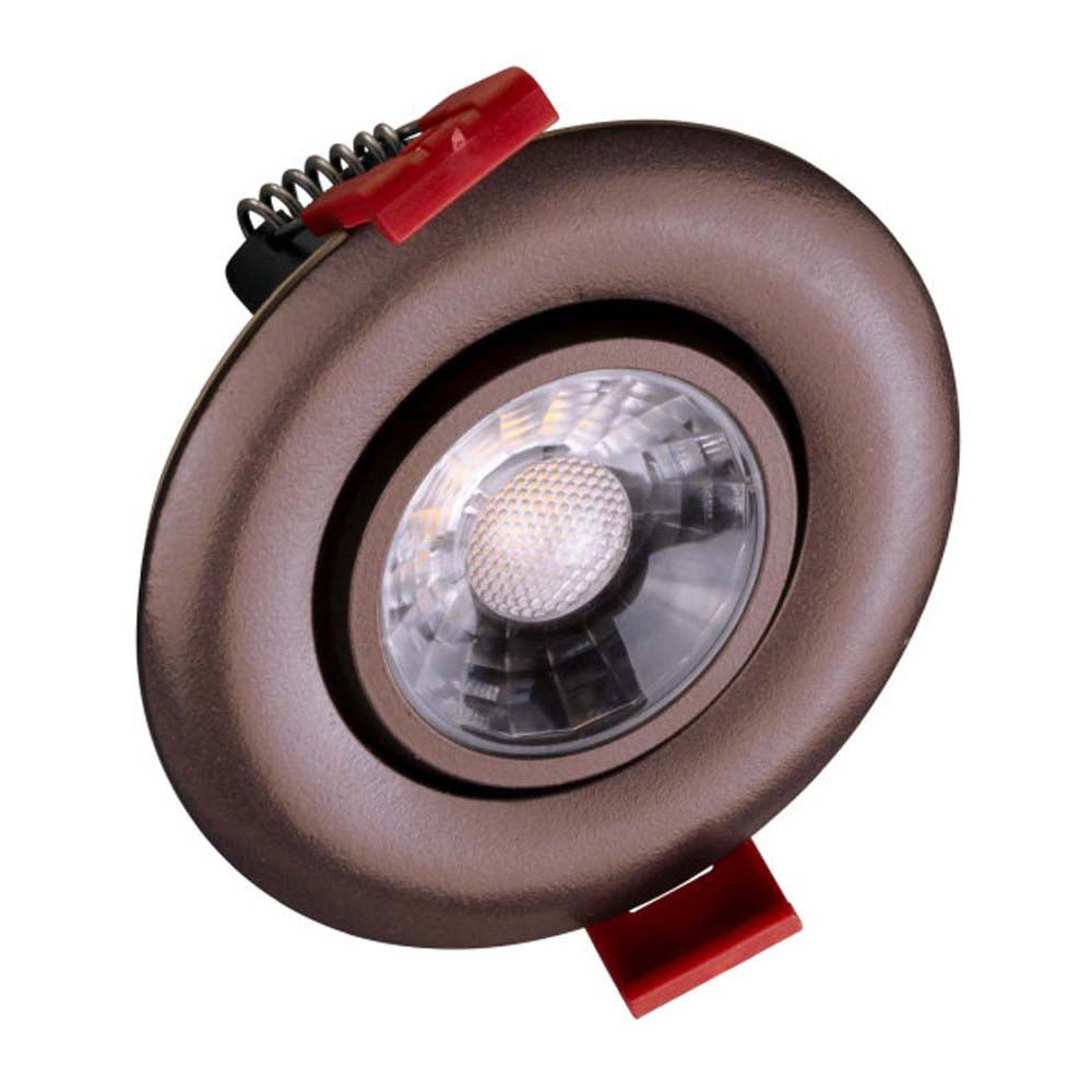 NICOR 3-inch LED Gimbal Recessed Downlight in Oil-Rubbed Bronze, 2700K